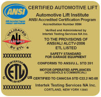 Gold Label - Certified Automotive Lift